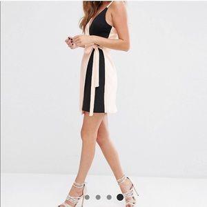 ASOS pink and black color block dress